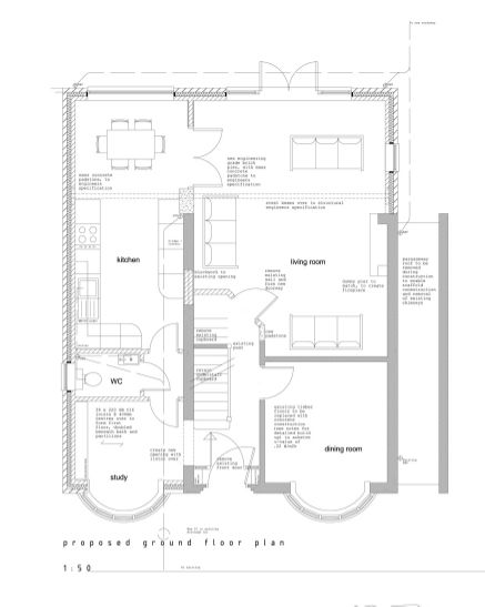Side and loft extension to 1930 s home quinton for 1930s house plans