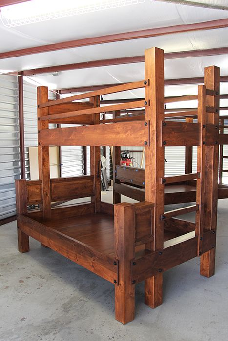 Twin XL over Full XL Bunk bed. Shown with optional headboards ...