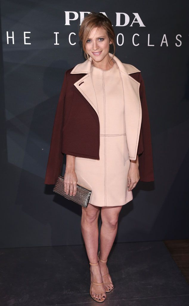 Also at Prada's TheIconoclasts event, the actress donned a charming Monique Lhuillier ensemble.