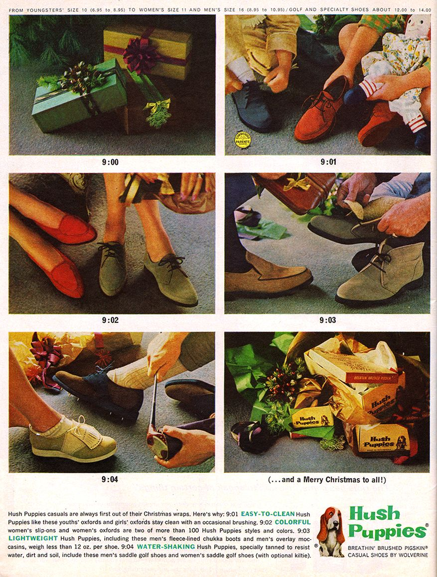Hush Puppies 1962 (With images) Hush puppies, Vintage