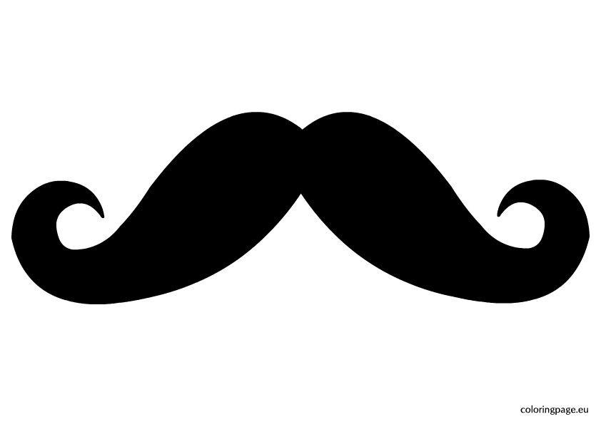 Mustache Clip Art Coloring Page Coloring Pages Mustache Template Clip Art