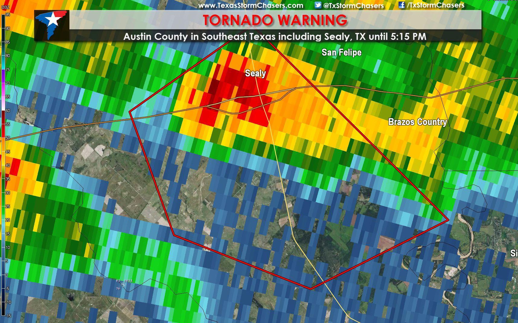 Tornado Warning For Sealy Tx Until 5 15 Pm Texas Storm Chasers Texas Storm Tornado Warning Tornado