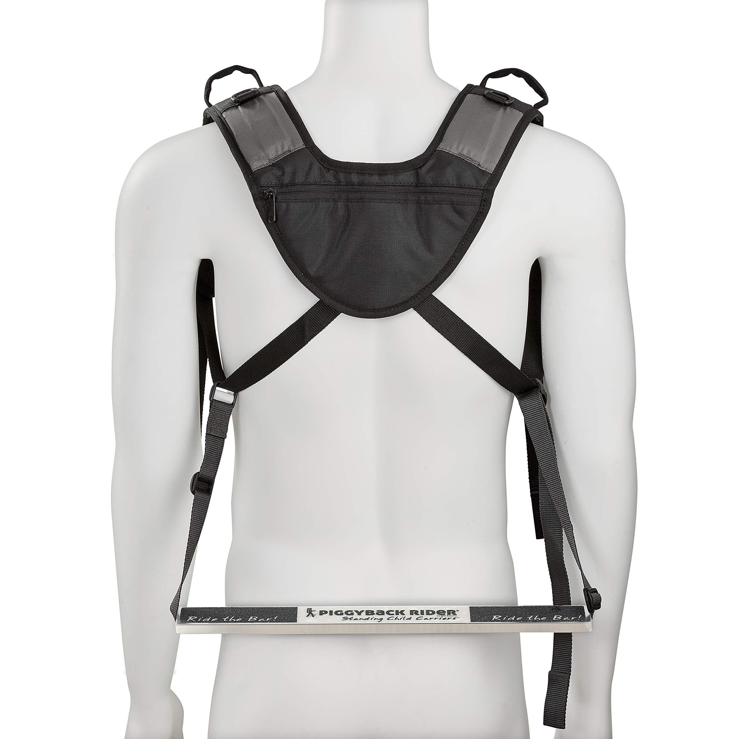 Black Piggyback Rider Child Safety Harness Backpack