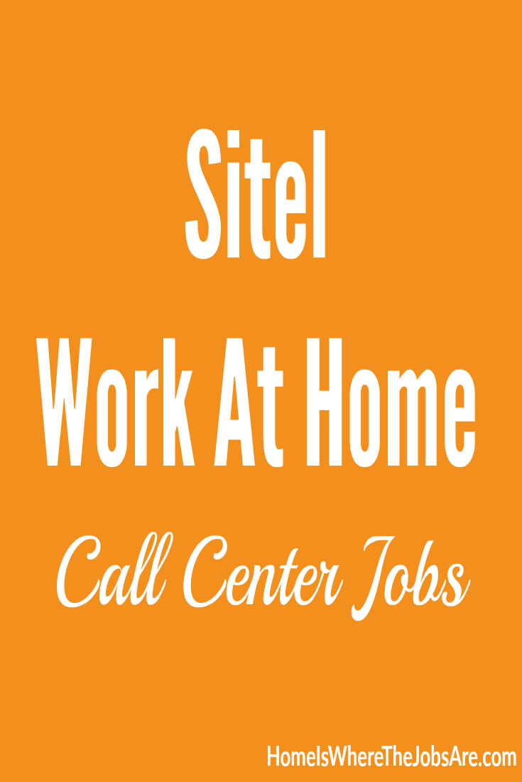 Sitel Work At Home Call Center Jobs Money Work From Home Jobs