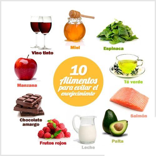 alimentos para evitar el envejecimiento