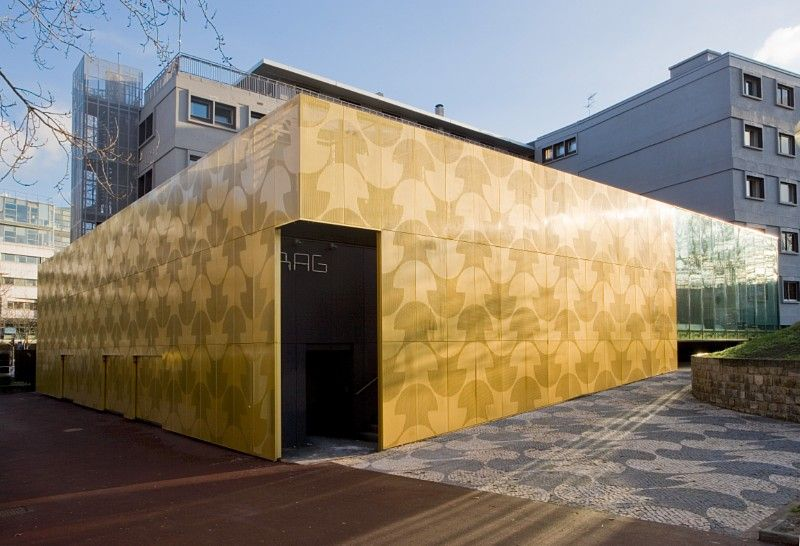 Perforated sheets from RMIG used for facade | Perforated wall art ...