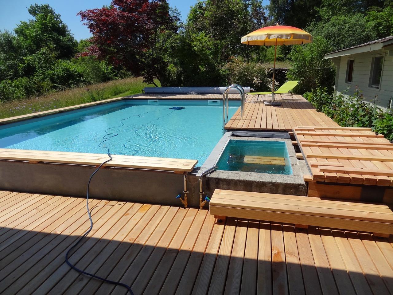 Schwimmbadsanierung mit Folie Poolheizung, Garten pool