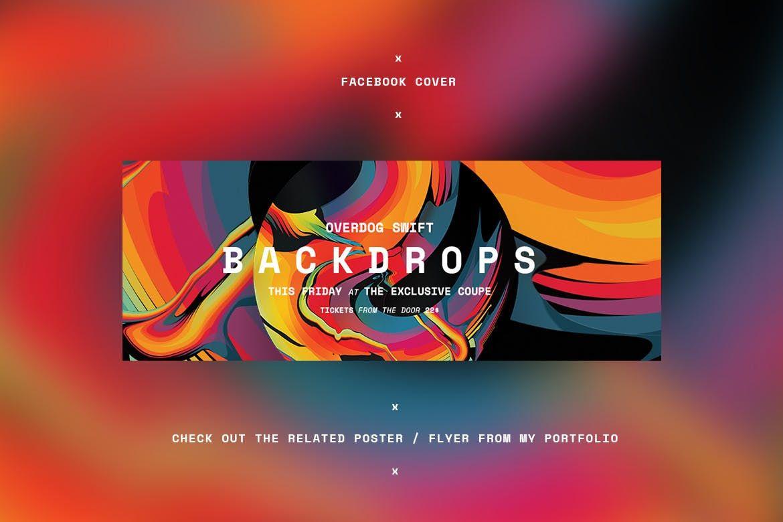 Backdrops Facebook Cover Template Psd Facebook Cover Templates