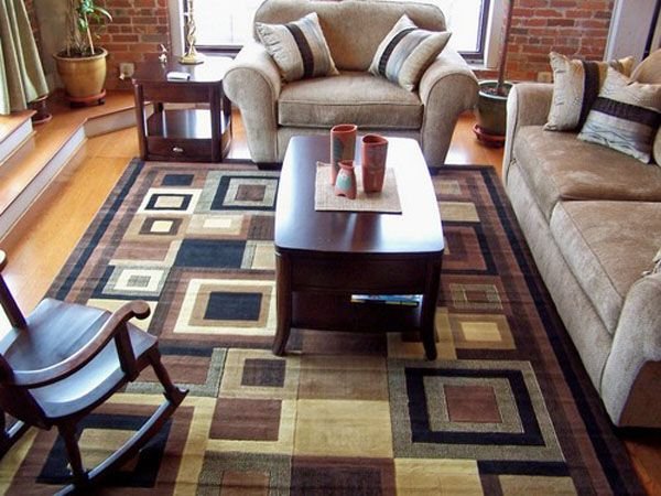 Amazing Modern Design Carpet In A Beautiful Drawing Room Rugs