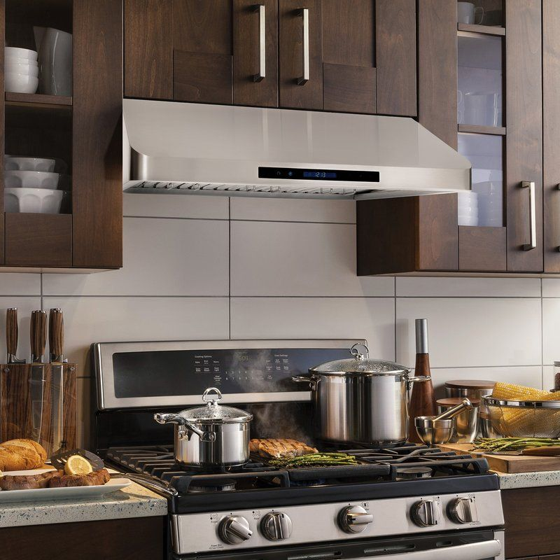 36 500 Cfm Ducted Under Cabinet Range Hood In 2020 White Kitchen Accessories White Kitchen Traditional White Kitchen Rustic