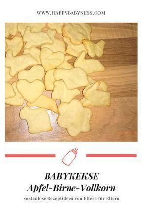 #BREIFREIREZEPT: Apfel-Birne-Vollkorn-Babykekse | ab dem 1. Zahn | #Babybrei & Babysnacks selbermachen | #Babykekse | #Beikost, Breikost, #Breifrei | #Beikostrezept | Breifrei, Baby Lead Weaning, BLW | happybabyness.com #homemadebabyfood