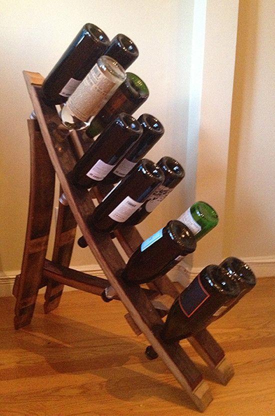 reclaimed wooden wine barrel wine rack cool stuff for home pinterest wine rack barrels and wine - Wooden Wine Rack