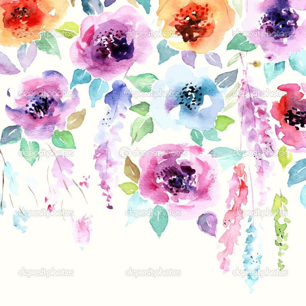 Wallpaper Stickers For Walls Watercolor Background Google Search Freebies