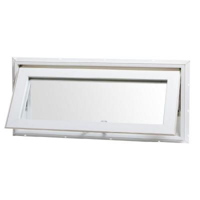 Tafco Windows 32 In X 14 In Top Hinge Awning Vinyl Window White Va3214 The Home Depot Window Awnings Transom Windows Awning Windows