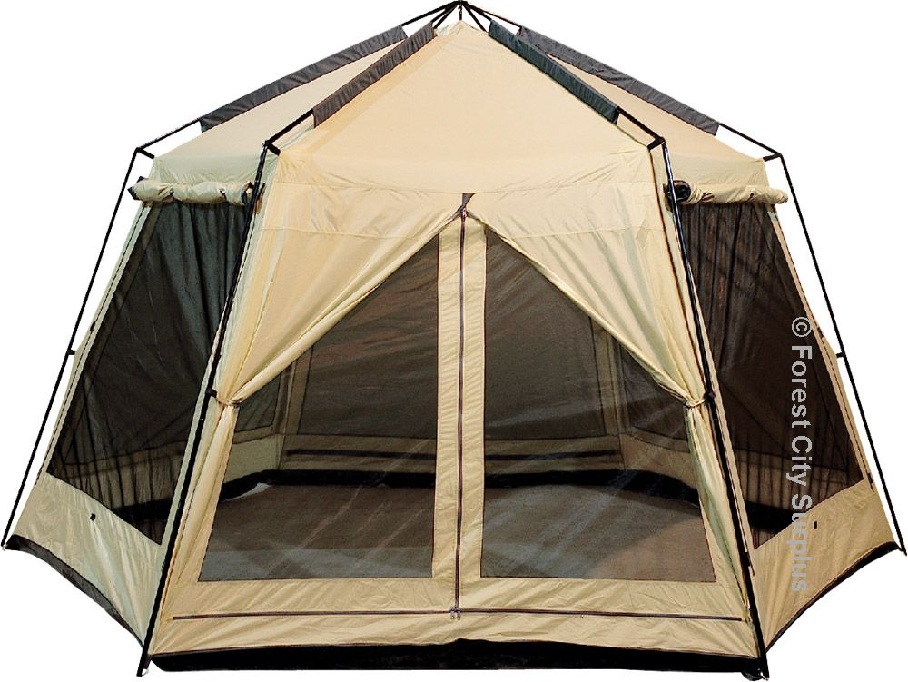World Famous® 13x12 Foot Lodge Screen Gazebos With Rain Flaps  sc 1 st  Home Design Ideas & Screened Dining Tent - Home Design Ideas and Pictures