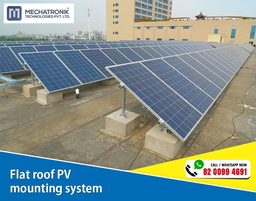 Flat Roof Pv Mounting System Add 701 B Synergy Near Vodafone House Corporate Rode Ahmedabad India C Solar Power System Solar Roof Solar Energy