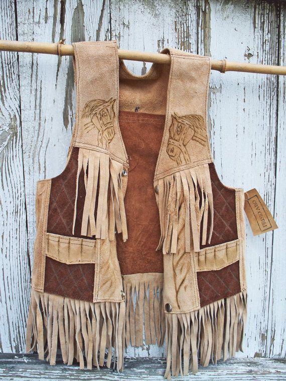 Vintage western vest. Reminds me of Louis L'amour!