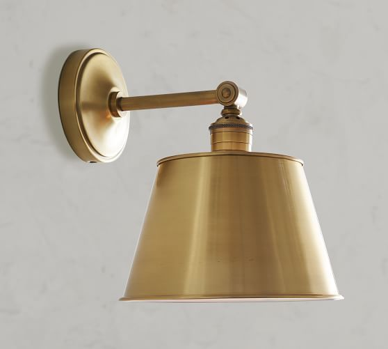 PB Classic Straight Arm Sconce - Tapered Metal Shade #951ryecourt