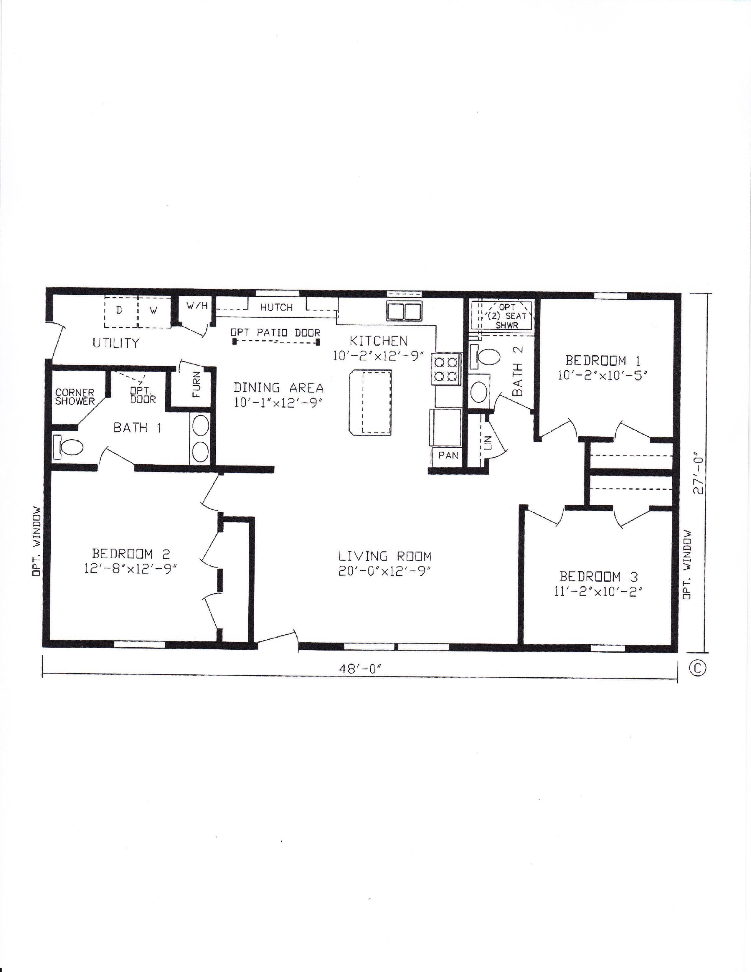 Several 27x48 Modular Home Floor Plans Modular Home Floor Plans Floor Plans House Floor Plans