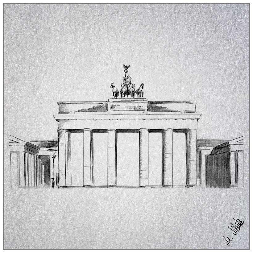 Brandenburg Gate Brandenburger Tor Zeichnungen Zeichnung