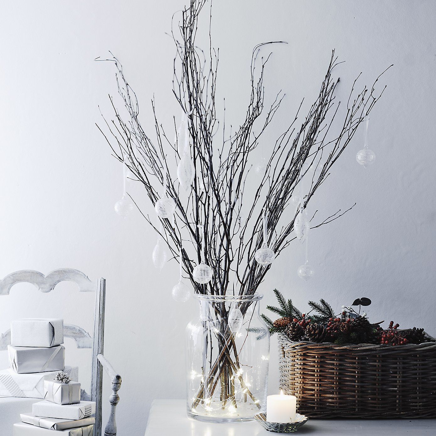 Glass Icicles - Set Of 3 | The White Company. Shopping from the US ...
