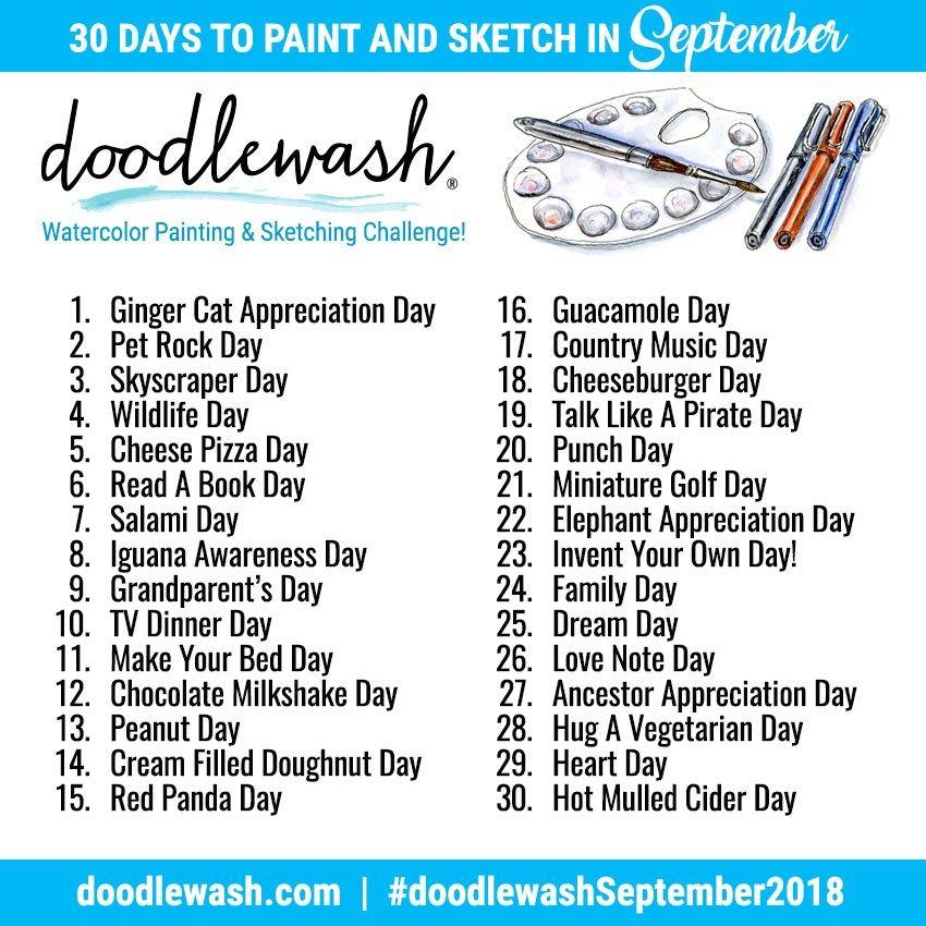 Ta Da The 30 Day Watercolor Challenge Watercolour Challenge