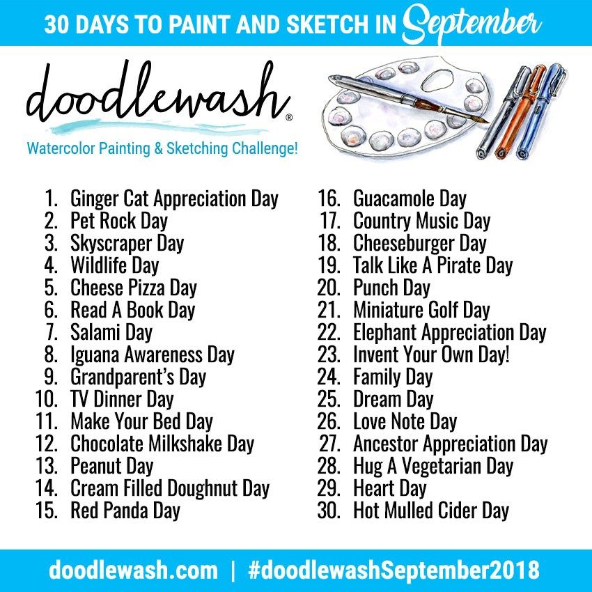 Art Challenges Monthly Watercolor Drawing Challenge Art