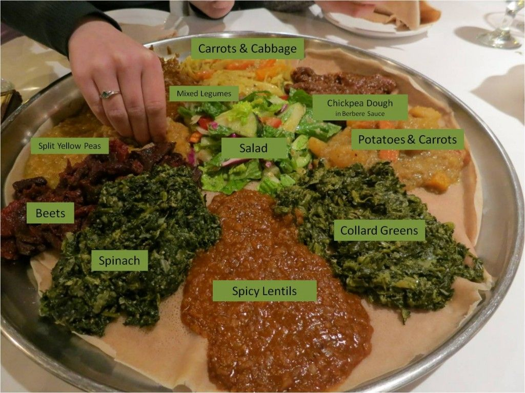 Demera ethiopian vegetarian platter favourite vegan for Authentic ethiopian cuisine