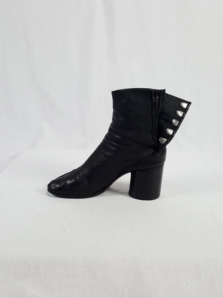 1dfe006bd6e Maison Martin Margiela black leather tabi boots with block heel (38 ...