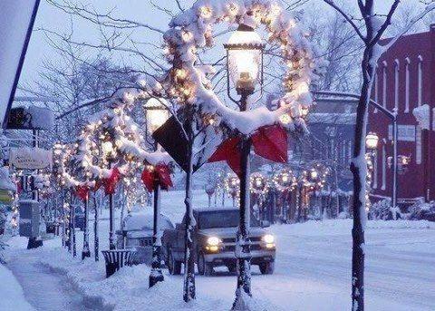 Small town Christmas Winter Wonderland Pinterest Small towns