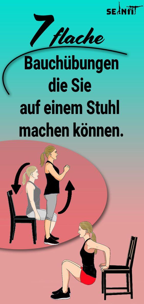 7 flache Bauchübungen, die Sie auf einem Stuhl machen können