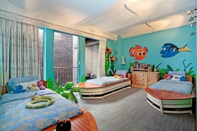 Habitaciones infantiles buscando a dory habitaciones - Habitaciones infantiles tematicas ...