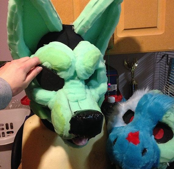 bc9cf5d2b how to make a fursuit head stand - Google Search | Fursuits and ...