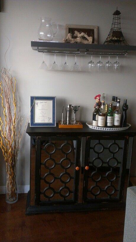 Pinterest Inspired Diy Bar Shelf Ikea Home Depot