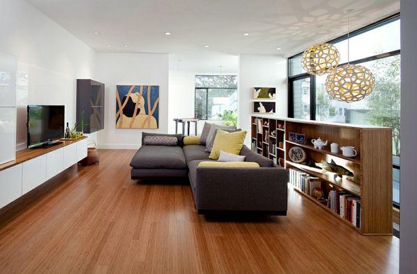 Wohnzimmer Farbgestaltung u2013 Grau und Gelb - Wohnzimmer