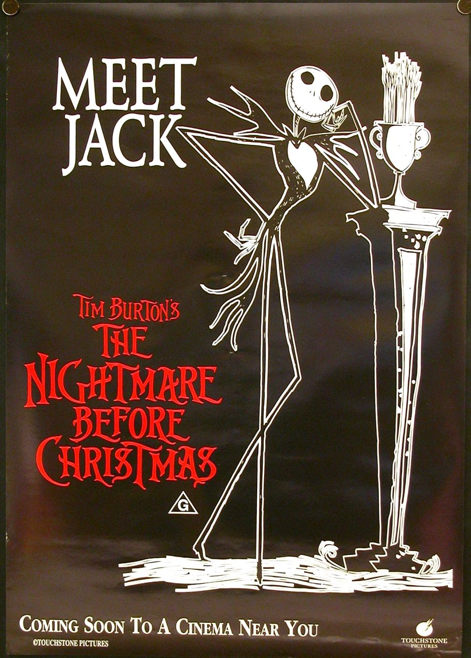 TB064. Meet Jack / The Nightmare before Christmas / Movie Poster ...