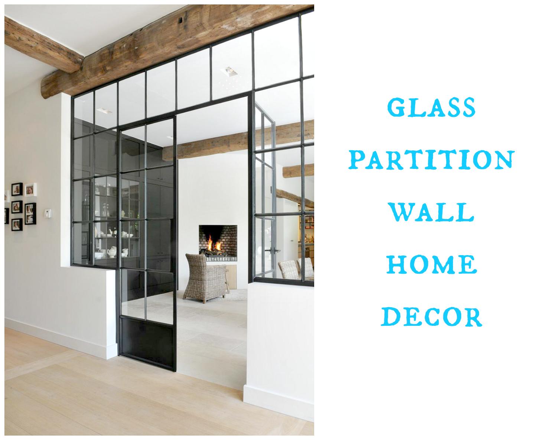 glass partition wall design - home decor ideas. szklana ściana