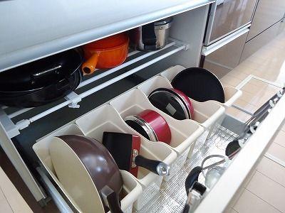 深すぎる コンロ下収納をつかいやすく改善 キッチン 収納 シンク下 引き出し システムキッチン 収納 引き出し キッチン 収納 シンク下