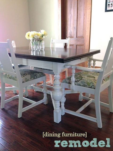 Dining Table And Chairs Redo Dining Table Makeover Chair Redo
