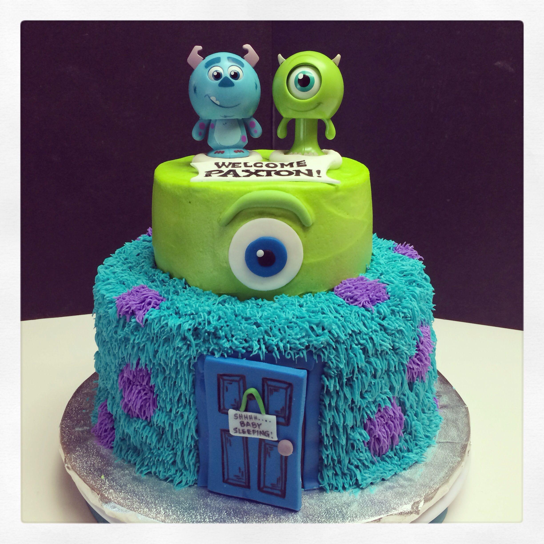 Monsters Inc baby shower cake Braydens 1st Birthday