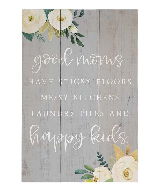 sincere surroundings good moms wall sign zulily wall on wall of moms id=24435
