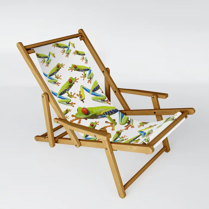 Red Eyed Tree Frog 22 Sling Chair By Dohshin Society6 Sling Chair Chair Outdoor Chairs