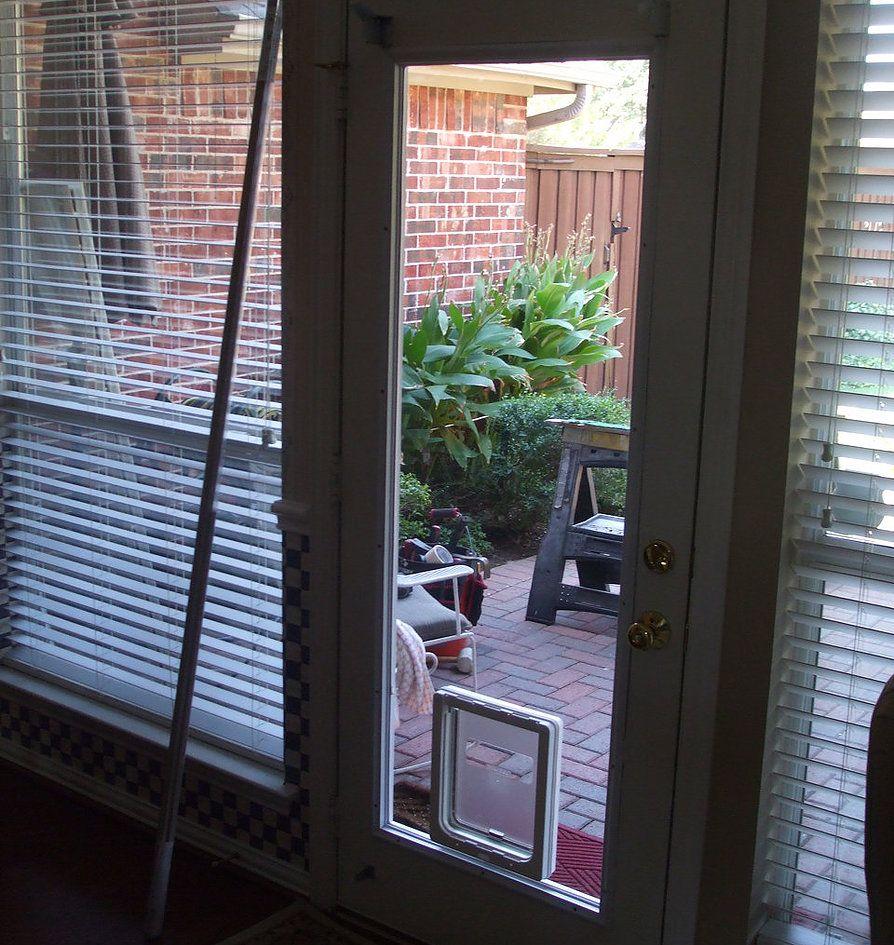 In Glass Pet Door Insert Panel Pet Door Installation