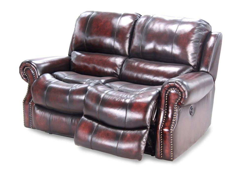 Parker House Furniture Midas Dual Reclining Power Loveseat - Burnt Umber - Parker Living