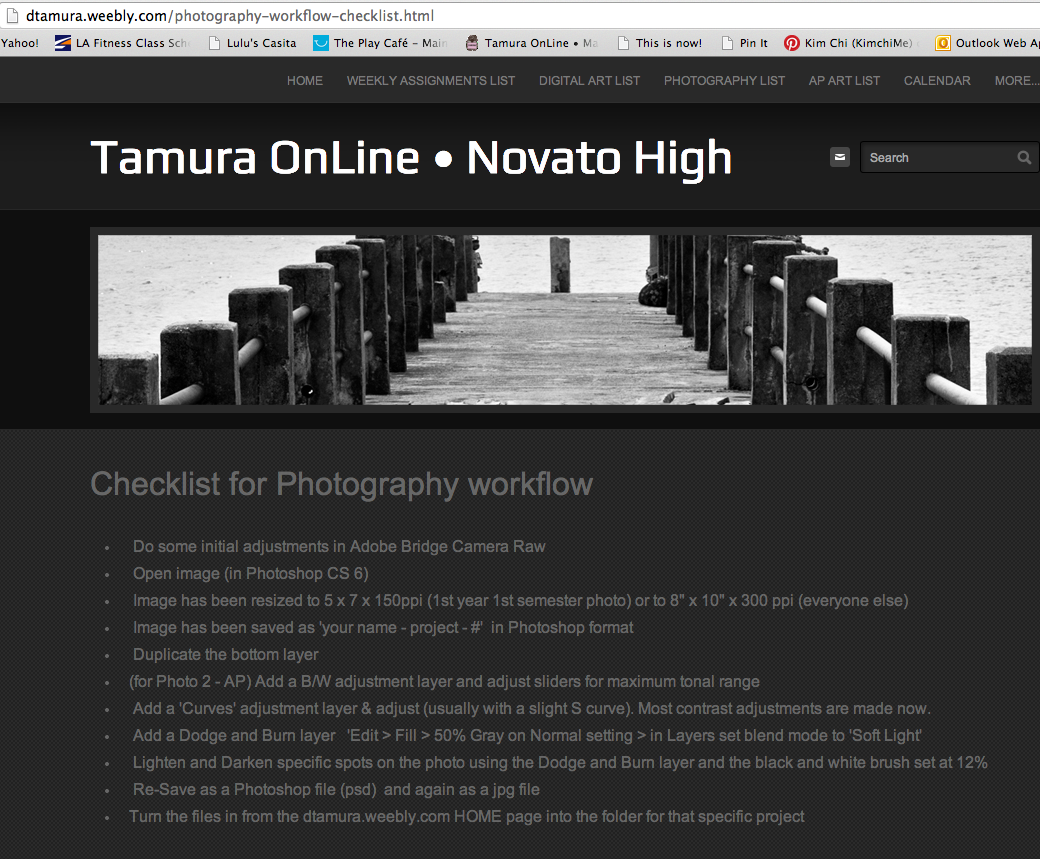 Workflow hs digital photography novato high photo class photography classes high school