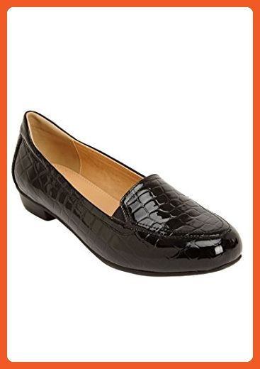 da08437efe3 Comfortview Women s Wide Devon Flats Black