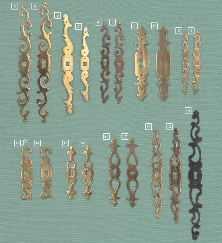 European Hardware & Finishes :: Gerber Hinge Company  Brass Escutcheons