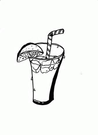 Ice Cube Coloring Pages sketch template  Happy Ice Tea Day