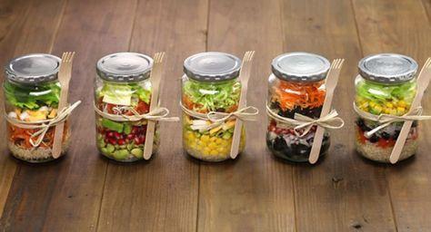 salat im glas abwechslung f r die ganze woche kochen pinterest salat salat im glas und. Black Bedroom Furniture Sets. Home Design Ideas