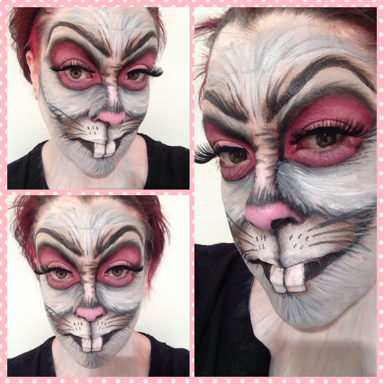 Easter bunny makeup: created with Kryolan aquacolors MUA: Rebecca ...